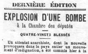 Le 12décembre 1893, la première des trois «Lois Scélérates» était votée par l'Assemblée Nationale