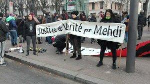 Rassemblement en mémoire de Mehdi tué le 11décembre 2016 lors d'un controle de police