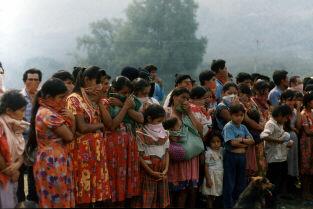 La foule indigène