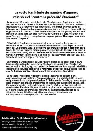 La vaste fumisterie du numéro d'urgence ministériel «contre la précarité étudiante»