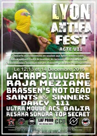 Lyon Antifa Fest – Acte VII du 12 au 14décembre