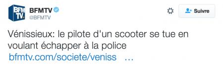 11décembre 2016: Les flics provoquent un accident de scooter à Vénissieux et tue Mehdi